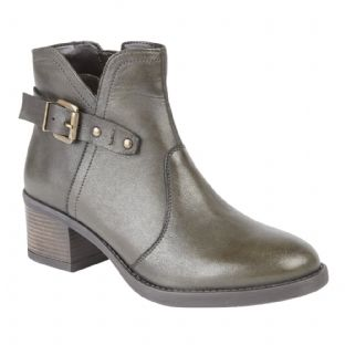 Lotus Womens Tapti Olive Leather Ankle Boots